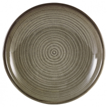 Terra Porcelain Smoke Grey Deep Coupe Plate 21cm
