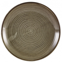 Terra Porcelain Smoke Grey Deep Coupe Plate 25cm