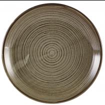 Terra Porcelain Grey Deep Coupe Plate 25cm