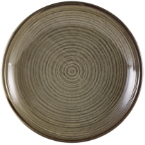 Terra Porcelain Smoke Grey Deep Coupe Plate 28cm