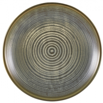 Terra Porcelain Matt Grey Deep Coupe Plate 25cm