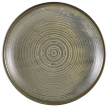 Terra Porcelain Matt Grey Deep Coupe Plate 28cm