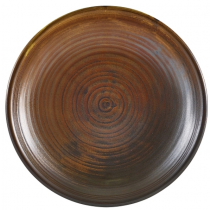 Terra Porcelain Rustic Copper Deep Coupe Plate 21cm