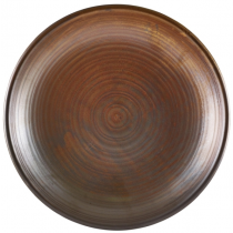 Terra Porcelain Rustic Copper Deep Coupe Plate 28cm