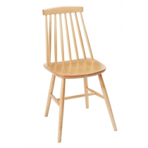 Fameg Farmhouse Angled Sidechair Natural Beech