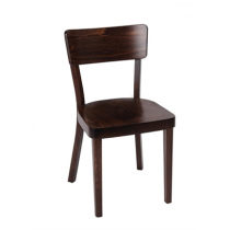 Fameg Plain Sidechairs Walnut Finish