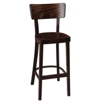 Fameg Plain Highstool Walnut Finish