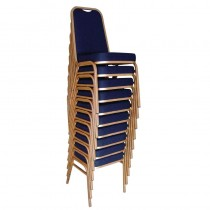 Bolero Squared Back Banqueting Chair Blue