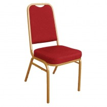 Bolero Squared Back Banqueting Chair Red