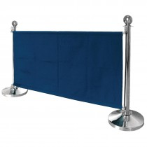 Blue Canvas Barrier