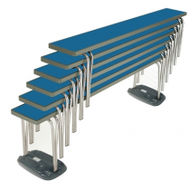 Gopak Stacking Bench Blue 6ft
