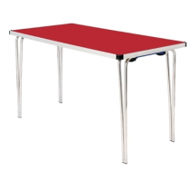 Gopak Folding Table Red 4ft