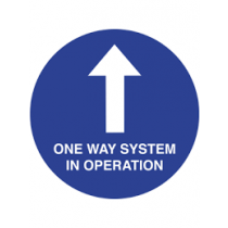 One Way System In Operation Floor Graphic 400mm