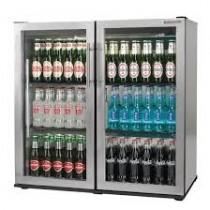 Autonumis Popular Maxi Double Door Bottle Cooler Stainless Steel