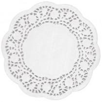 White Round Paper Doyleys 24cm