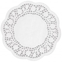 White Round Paper Doyleys 22cm