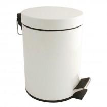 Bolero White Pedal Bin 5Ltr
