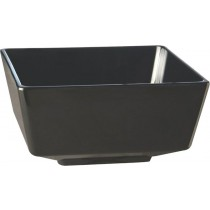 Float Melamine Square Bowl Black 25cm