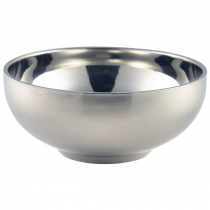 Stainless Steel Double Walled Bowl 14cm