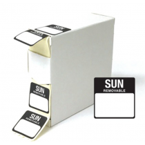 Food Labels Square Sunday 25x25mm Black