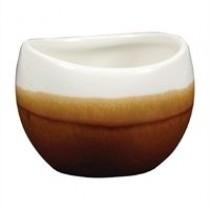 Churchill Monochrome Bulb Dip Pot Cinnamon Brown 7cl