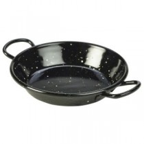 Black Enamel Miniature Paella Pan 15cm