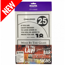 Essential Modern Bar Licensing Sign Pack