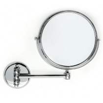 Wall Mounted Single Arm Double Sided Mirror 30cm