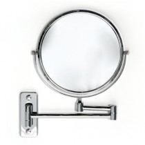 Wall Mounted Double Arm Double Sided Mirror 30cm