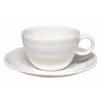 Elia Essence Premier Bone China Cappuccino Cup Saucer 15.5cm