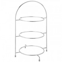 Chrome 3 Tier Cake Plate Stand 17inch / 43cm