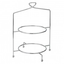 Utopia Savoy 2 Tier Cake Plate Stand 13inch / 33cm