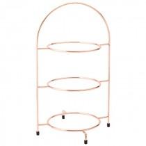 Copper 3 Tier Plate Stand 42cm