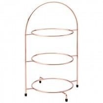 Copper 3 Tier Plate Stand 43cm