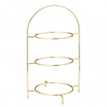 Gold 3 Tier Cake Plate Stand 42cm