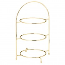 Gold 3 Tier Cake Plate Stand 43cm
