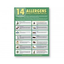The 14 Allergens Guide for Staff Notice A3 Poster
