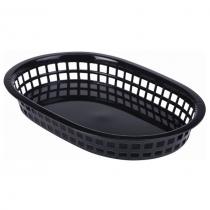 Oval Fast Food Basket Black 27.5 x 17.5cm
