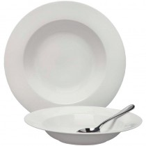 Elia Fine China Glacier Rimmed Pasta/Soup Plate 240mm