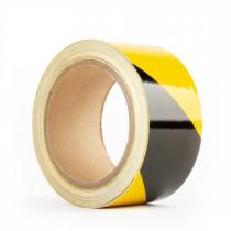 Yellow/Black Stripe Caution Adhesive Floor Tape