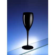 Premium Unbreakable Champagne Flutes Black 6oz / 175ml