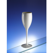 Premium Unbreakable Champagne Flutes White 6oz / 175ml