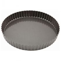 Genware Non-Stick Fluted Quiche Tin 25cm