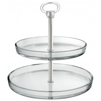 Palladio 2 Tier Glass Cake Stand