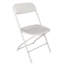 Bolero Folding Chairs White