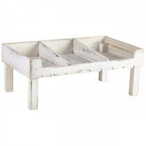 Wooden Display Crate Stand White Wash Finish 53 x 32 x 21cm