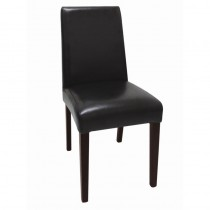 Bolero Faux Leather Dining Chairs Black