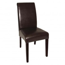 Bolero Curved Back Leather Chairs Brown