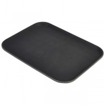 Non Slip Gengrip Rectangular Tray Black 15 x 20inch