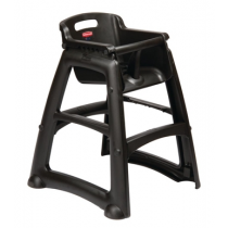 Plastic High Chair Black